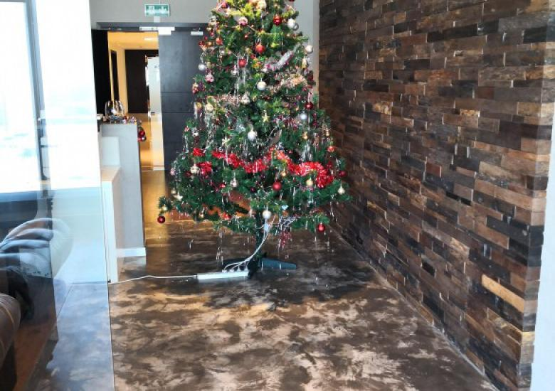 Christmas Tree polished concrete