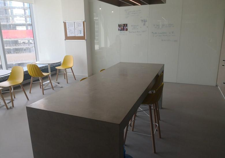 Polished overlay and concrete table